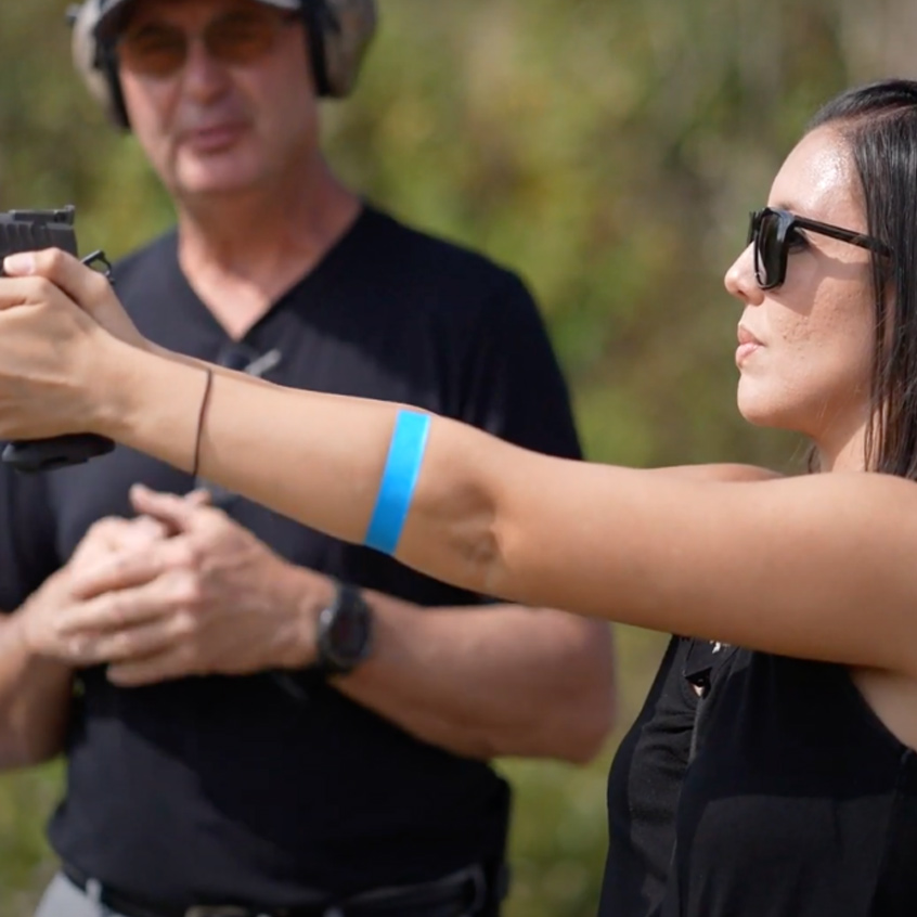 @Staccato2011 firing Staccato handgun at the range
