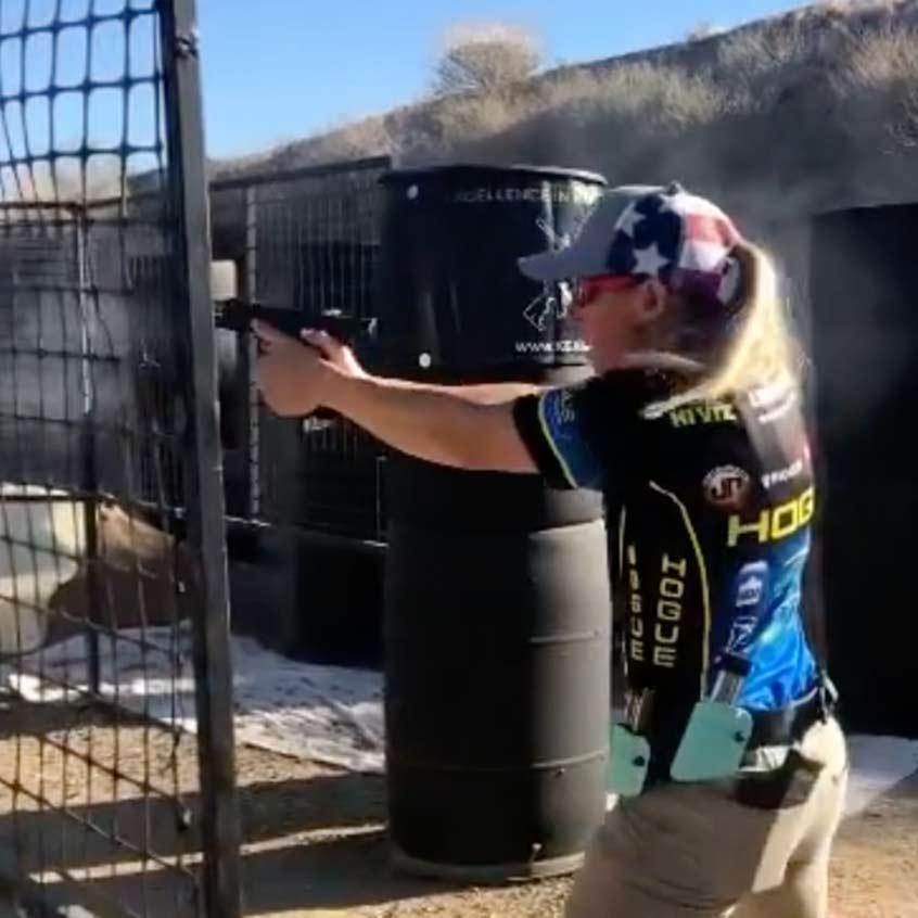 @lanny_oakley firing Staccato handgun down range