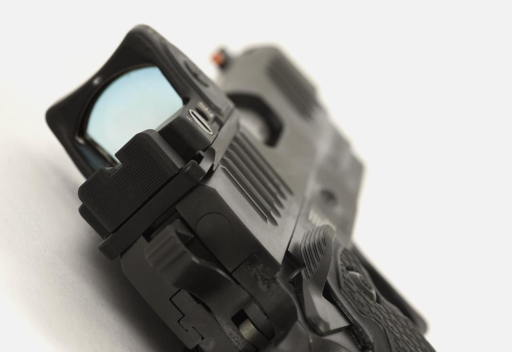 Staccato handgun with optic sight
