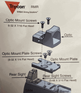 Optic mount assembly diagram
