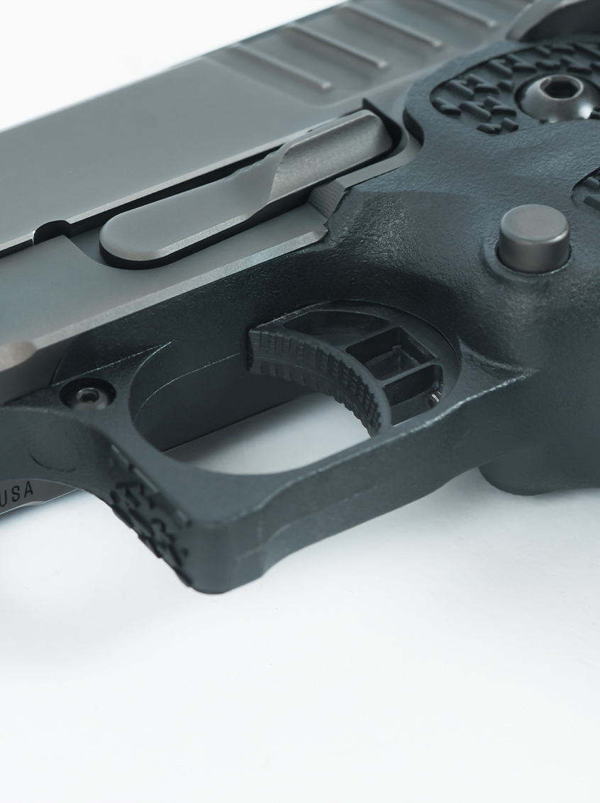 Staccato XC close up on trigger