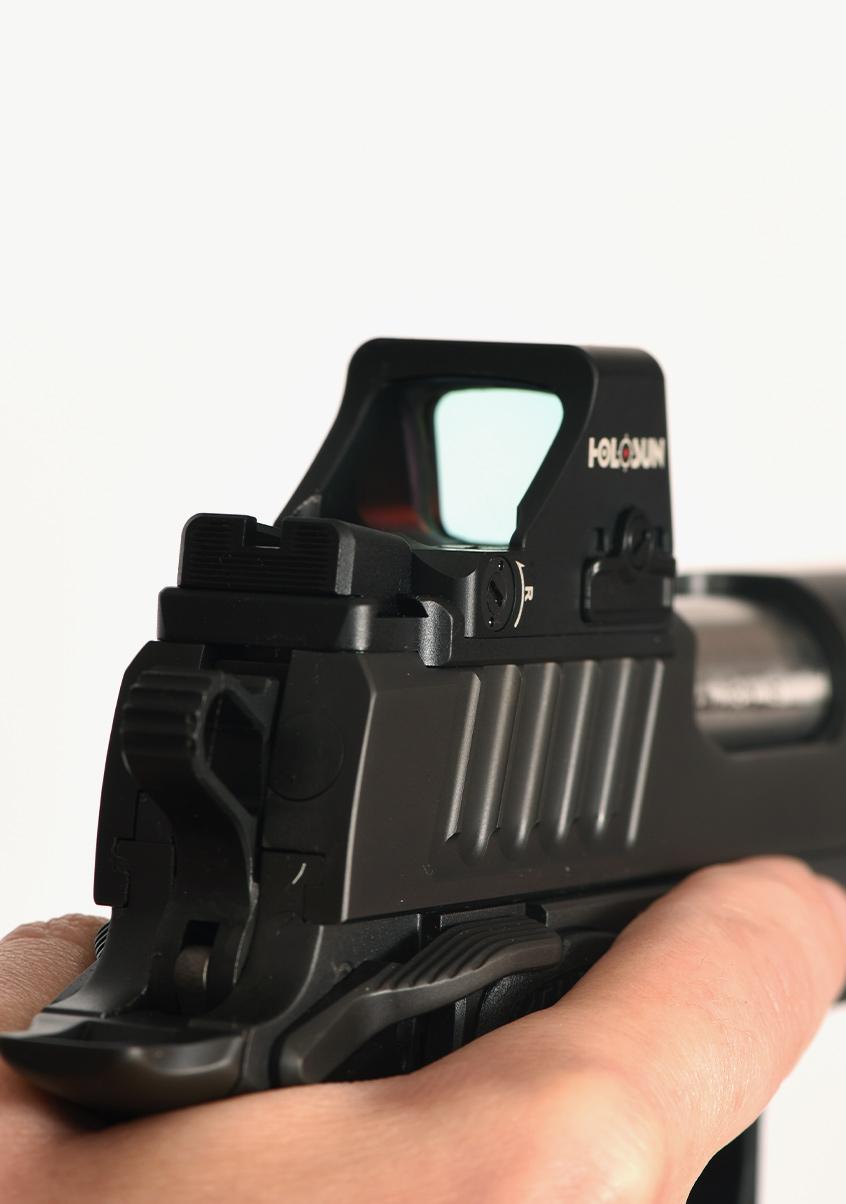 Staccato handgun with optics added